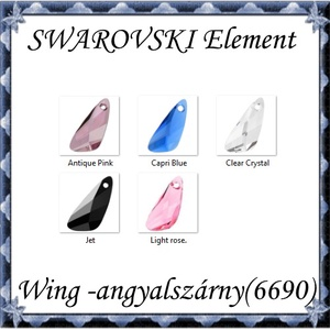 Ékszerkellék: Swarovski Wing (angyalszárny ) 23mm-es több színben , Gyöngy, ékszerkellék, Swarovski kristályok, Ékszerkészítés, Gyöngy, SWAROVSKI KRISTÁLY WING (ANGYALSZÁRNY), TÖBB SZÍNBEN !\n\nMéret:23mm\n\nAz ár egy darabra vonatkozik!\n\nA..., Meska