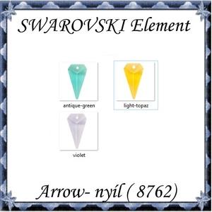 Ékszerkellék: Swarovski nyíl 25mm  több színben, Gyöngy, ékszerkellék, Swarovski kristályok, Ékszerkészítés, Mindenmás, Szerelékek, SWAROVSKI KRISTÁLY NYÍL, TÖBB SZÍNBEN !\n\nMéret:25x14 mm\n\n\nAz ár egy darabra vonatkozik!\n\n\nA színtábl..., Meska