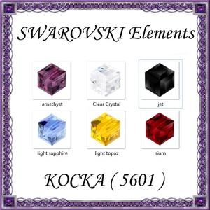 Ékszerkellék: Swarovski kocka 6mm-es   több színben, Gyöngy, ékszerkellék, Swarovski kristályok, Ékszerkészítés, Gyöngy, SWAROVSKI KRISTÁLY KOCKA, TÖBB SZÍNBEN !\n1db / csomag\nMéret:6mm\n\nAz ár 1 darabra vonatkozik!\n\nA szín..., Meska