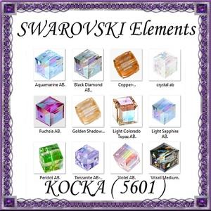 Ékszerkellék: Swarovski kocka 4mm-es AB bevonatos  több színben, Gyöngy, ékszerkellék, Swarovski kristályok, Ékszerkészítés, Gyöngy, SWAROVSKI KRISTÁLY KOCKA,AB-BEVONATOS TÖBB SZÍNBEN !\n\n\nMéret:4mm\n\nAz ár 1db kocka \n\nA színtáblázatot..., Meska
