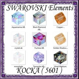 Ékszerkellék: Swarovski kocka 6mm-es AB bevonatos  több színben, Gyöngy, ékszerkellék, Swarovski kristályok, Ékszerkészítés, Gyöngy, SWAROVSKI KRISTÁLY KOCKA,AB-BEVONATOS TÖBB SZÍNBEN !\n\n\nMéret:6mm\n\nAz ár 1db kocka \n\n\nA színtáblázato..., Meska