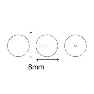 Ékszerkellék: Swarovski félig fúrt tekla gömb 8mm-es - gyöngy, ékszerkellék - swarovski kristályok - Meska.hu