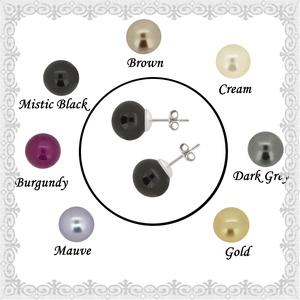 925-ös sterling ezüst fülbevaló Swarovski félig fúrt gömb 6mm több színben SFE-SW03, Ékszer, Pötty fülbevaló, Fülbevaló, Ékszerkészítés, Gyöngyfűzés, gyöngyhímzés, Meska