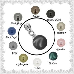 925-ös sterling ezüst medál Swarovski félig fúrt gömb 10mm több színben SME-SW02, Ékszer, Medál, Nyaklánc, Ékszerkészítés, Gyöngyfűzés, gyöngyhímzés, Meska