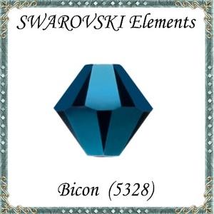 Ékszerkellék: Swarovski bicon 6mm-es AB2x bevonatos 5db / csomag  SWGY5328-6AB2X - gyöngy, ékszerkellék - swarovski kristályok - Meska.hu