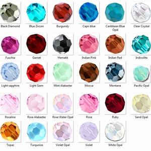 Ékszerkellék: Swarovski kristály gömb 3mm SW5000-3 6db/csomag több színben - gyöngy, ékszerkellék - swarovski kristályok - Meska.hu