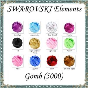 Ékszerkellék: Swarovski kristály gömb 5mm 4db/csomag több színben SW5000-5, Gyöngy, ékszerkellék, Swarovski kristályok, Ékszerkészítés, Gyöngy, *SW5000-5\nEredeti swarovski kristály gömb több színben.\n\nMéret:5mm\n4db/ csomag \n\nA 4db-ot több színb..., Meska