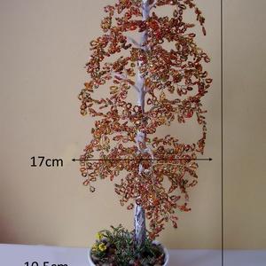 Gyöngyből készített őszi nyírfa  GYV01-3-42 (gyongyvilag) - Meska.hu