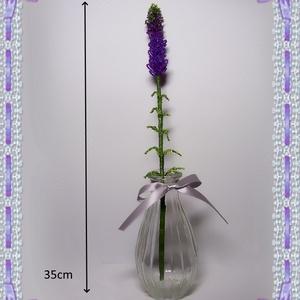 Gyöngyből készített levendula üvegvázában GYV01-2-1 - otthon & lakás - dekoráció - díszüveg - Meska.hu
