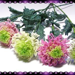 1 szál Gyöngyből készített krizantém több színben GYV05, Otthon & lakás, Dekoráció, Dísz, Képzőművészet, Vegyes technika, Lakberendezés, Asztaldísz, Gyöngyfűzés, gyöngyhímzés, Virágkötés, Az ősz virága a krizantém. Ez a gyöngyből megformált krizantém szinte élethű mása az eredetinek. \n\nA..., Meska
