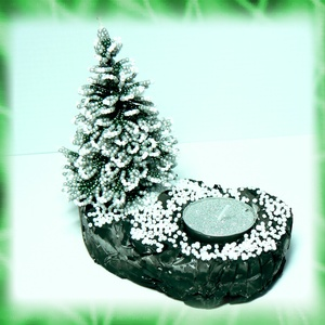 Gyöngyből készített fenyőfa mécsestartó GYV14-3 (gyongyvilag) - Meska.hu