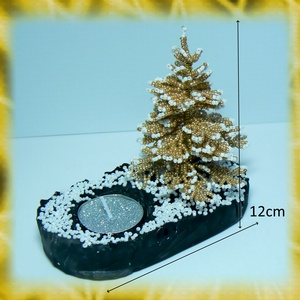 Gyöngyből készített fenyőfa mécsestartó GYV14-4 (gyongyvilag) - Meska.hu