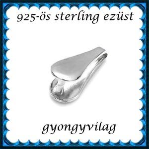 925-ös sterling ezüst ékszerkellék: medáltartó, medálkapocs EMK 83, Gyöngy, ékszerkellék, Egyéb alkatrész,  EMK 83   925-ös ezüst medálkapocs.  A méreteket a fotón láthatod  1db/csomag   Ezt a medálkapcsot a..., Meska