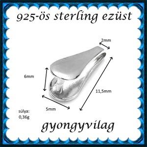 925-ös sterling ezüst ékszerkellék: medáltartó, medálkapocs EMK 83 - gyöngy, ékszerkellék - egyéb alkatrész - Meska.hu