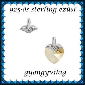 925-ös sterling ezüst ékszerkellék: medáltartó, medálkapocs EMK 84, Gyöngy, ékszerkellék, Egyéb alkatrész,  EMK 84   925-ös ezüst medálkapocs.  A méreteket a fotón láthatod  1db/csomag   Ezt a medálkapcsot a..., Meska