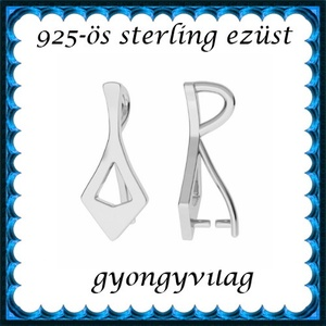 925-ös sterling ezüst ékszerkellék: medáltartó, medálkapocs EMK 86, Gyöngy, ékszerkellék, Egyéb alkatrész,  EMK 86   925-ös ezüst medálkapocs.  A méreteket a fotón láthatod  1db/csomag   Ezt a medálkapcsot a..., Meska