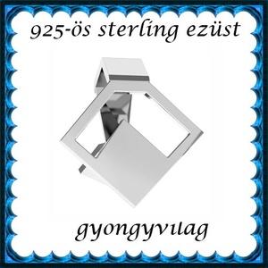 925-ös sterling ezüst ékszerkellék: medáltartó, medálkapocs EMK 87, Gyöngy, ékszerkellék, Egyéb alkatrész,  EMK 87   925-ös ezüst medálkapocs.  A méreteket a fotón láthatod  1db/csomag   Ezt a medálkapcsot a..., Meska