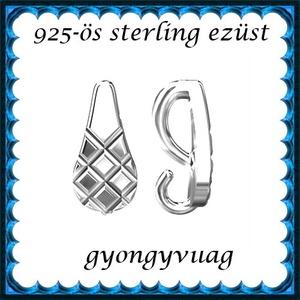 925-ös sterling ezüst ékszerkellék: medáltartó, medálkapocs EMK 88, Gyöngy, ékszerkellék, Egyéb alkatrész,  EMK 88   925-ös ezüst medálkapocs.  A méreteket a fotón láthatod  1db/csomag   Ezt a medálkapcsot a..., Meska