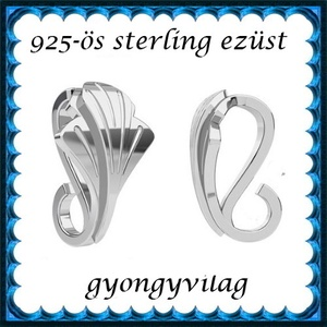 925-ös sterling ezüst ékszerkellék: medáltartó, medálkapocs EMK 91, Gyöngy, ékszerkellék, Egyéb alkatrész,  EMK 91   925-ös ezüst medálkapocs.  A méreteket a fotón láthatod  1db/csomag   Ezt a medálkapcsot a..., Meska