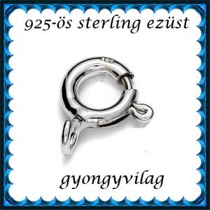 925-ös sterling ezüst ékszerkellék: lánckalocs  ELK 1S 12-9,25, Gyöngy, ékszerkellék, Egyéb alkatrész, Ékszerkészítés, Gyöngy, *ELK 1S 12-9,25 925-ös fémjellel ellátott valódi ezüst (bevizsgált) 1 soros lánckapocs, delfinkapoc..., Alkotók boltja