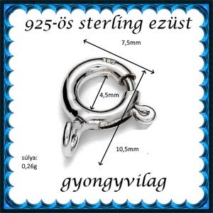 925-ös sterling ezüst ékszerkellék: lánckalocs  ELK 1S 12-10,5 - gyöngy, ékszerkellék - egyéb alkatrész - Meska.hu