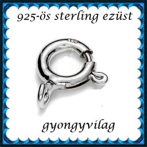 925-ös sterling ezüst ékszerkellék: lánckalocs  ELK 1S 12-12, Gyöngy, ékszerkellék, Egyéb alkatrész, Ékszerkészítés, Gyöngy, ELK 1S 12-12 925-ös fémjellel ellátott valódi ezüst (bevizsgált) 1 soros lánckapocs, delfinkapocs. ..., Alkotók boltja