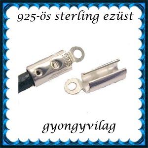 925-ös ezüst  lánckapocsvég 3,5mm-es 2db/cs ELK V 08-3,5, Gyöngy, ékszerkellék, Egyéb alkatrész, Ékszerkészítés, Gyöngy, ELK V 08-3,5\n\n925-ös fémjellel ellátott valódi ezüst (bevizsgált) lánckapocs vég ezüsthuzalhoz, bőrh..., Meska