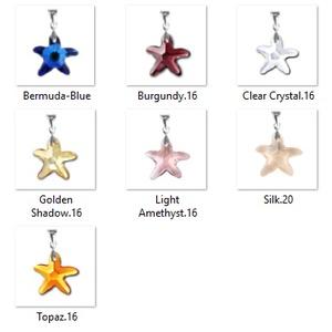 Swarovski kristály medál -16mm-es tengeri csillag több színben - Meska.hu