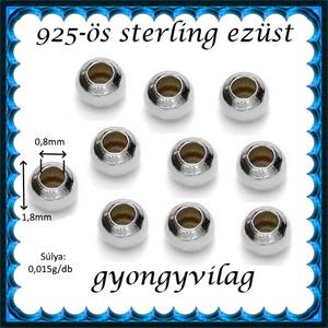 925-ös ezüst köztes / gyöngy / dísz EKÖ 10-1,8e - gyöngy, ékszerkellék - fém köztesek - Meska.hu