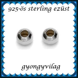 EKÖ 10-4   925-ös 4mm-es   ezüst köztes / gyöngy / díszitőelem  4db /csomag - Meska.hu