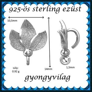 925-ös sterling ezüst ékszerkellék: medáltartó, medálkapocs EMK 95 - Meska.hu
