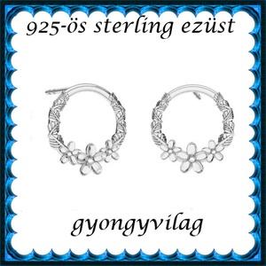 925-ös sterling ezüst: fülbevaló  EF 03, Ékszer, Lógó fülbevaló, Fülbevaló, Ékszerkészítés, Gyöngyfűzés, gyöngyhímzés, Meska