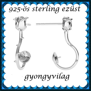925-ös ezüst fülbevaló kapocs EFK B 50 - Meska.hu