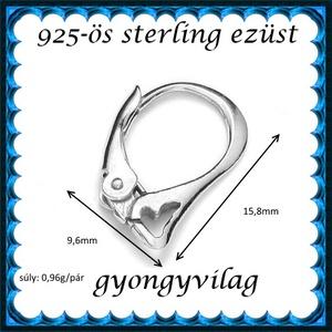 925-ös sterling ezüst ékszerkellék: fülbevalóalap biztonsági kapoccsal EFK K 28 - Meska.hu