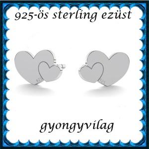 925-ös sterling ezüst: fülbevaló  EF 08, Ékszer, Fülbevaló, Pötty fülbevaló, Ékszerkészítés, Gyöngyfűzés, gyöngyhímzés, Meska