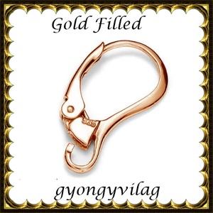 Gold Filled fülbevalókapocs EFK K 33 G (rózsa gold) - Meska.hu