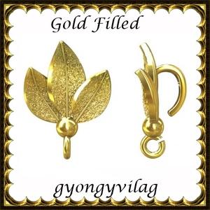 925-ös sterling ezüst ékszerkellék: medáltartó, medálkapocs EMK 95 AU Gold Filled, Gyöngy, ékszerkellék, Egyéb alkatrész, Ékszerkészítés, Mindenmás, Szerelékek,  EMK 95 g\n\n14K arannyal bevont (gold filled) 925-ös ezüst medálkapocs.\n\nA méreteket a fotón láthatod..., Meska