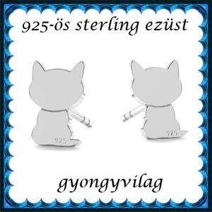 925-ös sterling ezüst: fülbevaló  EF 11, Ékszer, Fülbevaló, Pötty fülbevaló, Ékszerkészítés, Gyöngyfűzés, gyöngyhímzés, Meska