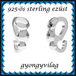 925-ös sterling ezüst ékszerkellék: medáltartó, medálkapocs EMK 97AG - Meska.hu