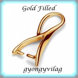 925-ös sterling ezüst ékszerkellék: medáltartó, medálkapocs EMK 45 AU Gold Filled, Gyöngy, ékszerkellék, Egyéb alkatrész, Ékszerkészítés, Mindenmás, Szerelékek,  EMK 45 g\n\n14K arannyal bevont (gold filled) 925-ös ezüst medálkapocs.\n\nA méreteket a fotón láthatod..., Meska