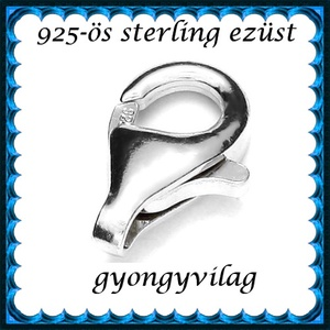 925-ös ezüst 1soros lánckapocs ELK 1s 39-16, Gyöngy, ékszerkellék, Egyéb alkatrész, Ékszerkészítés, Gyöngy, ELK 39-16\n\n925-ös fémjellel ellátott valódi ezüst (bevizsgált) 1 soros lánckapocs.\n\nAz ár 1 db-ra vo..., Meska
