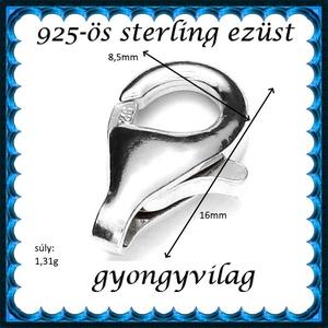 925-ös ezüst 1soros lánckapocs ELK 1s 39-16 - Meska.hu