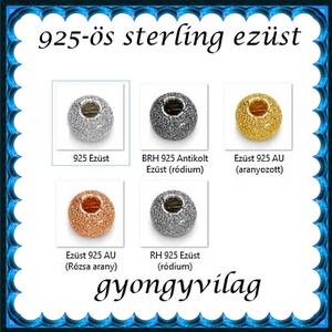 925-ös sterling ezüst ékszerkellék: köztes/gyöngy/díszitőelem EKÖ 34 4mm  AU - Meska.hu