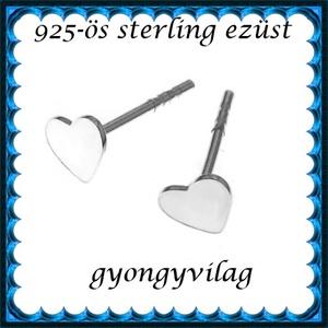 925-ös sterling ezüst: fülbevaló  EF 12, Ékszer, Pötty fülbevaló, Fülbevaló, Ékszerkészítés, Gyöngyfűzés, gyöngyhímzés, Meska