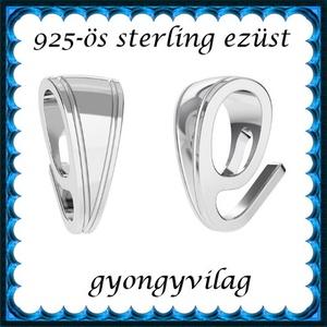 925-ös sterling ezüst ékszerkellék: medáltartó, medálkapocs EMK 100 - Meska.hu