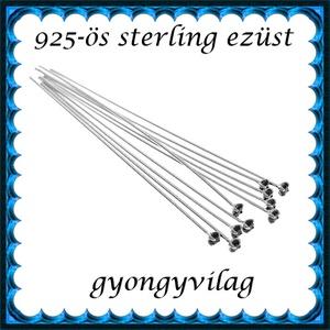 925-ös ezüst szerelőpálca swarovski végű 40 x 0,5mm-es  ESZP-SW, Gyöngy, ékszerkellék, Egyéb alkatrész, Ékszerkészítés, Mindenmás, Szerelékek, 925-ös valódi ezüst (bevizsgált) szerelőpálca,\n\n40mm hosszú 0,5mm drótvastagságú.\n\nA végén 1,5mm-es ..., Meska