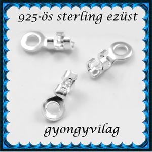 925-ös ezüst  lánckapocsvég 1mm-es 2db/cs ELK V 01-1, Gyöngy, ékszerkellék, Egyéb alkatrész, Ékszerkészítés, Gyöngy, ELK V 01\n\n925-ös fémjellel ellátott valódi ezüst (bevizsgált) lánckapocs vég ezüsthuzalhoz, bőrhöz, ..., Meska