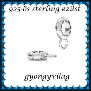 925-ös sterling ezüst ékszerkellék: medáltartó, medálkapocs EMT 35, Gyöngy, ékszerkellék, Egyéb alkatrész, Ékszerkészítés, Mindenmás, Szerelékek, EMT 35\n\n925-ös fémjellel ellátott valódi ezüst (bevizsgált)medáltartó,csúszókapocs.\n\n\nAz ár 1db medá..., Meska