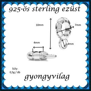 925-ös sterling ezüst ékszerkellék: medáltartó, medálkapocs EMT 35 - gyöngy, ékszerkellék - egyéb alkatrész - Meska.hu