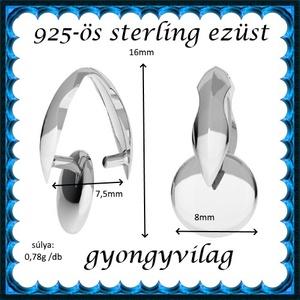 925-ös ezüst medálkapocs EMK 82e - Meska.hu